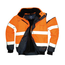 High-visibility 3 in 1 jas Oranje