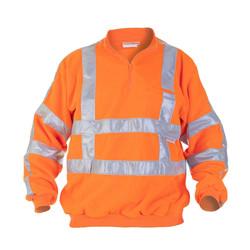 RWS fleece trui met zipneck Texel Hydrowear