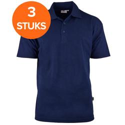 Poloshirt pakket katoen/polyester 3 pack