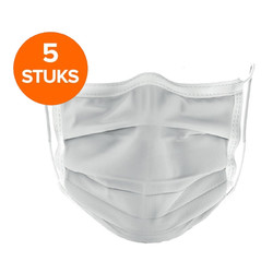 Mondmasker katoen wasbaar 5pack