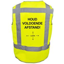 Veiligheidshesje houd afstand geel