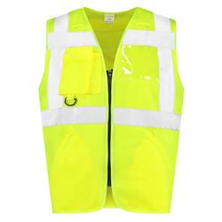 RWS Veiligheidshesje met rits geel