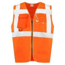 RWS Veiligheidshesje met rits oranje