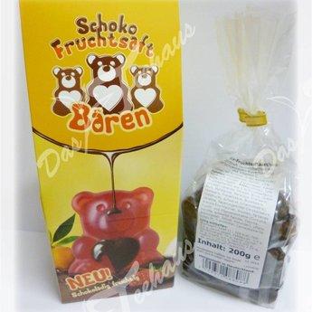 Schoko-Fruchtsaftbärchen, 200 g