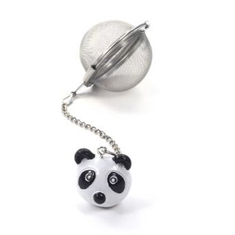 "Tee-Ei ""Panda"" Edelstahl, mit Anhänger Ø ca. 5 cm"