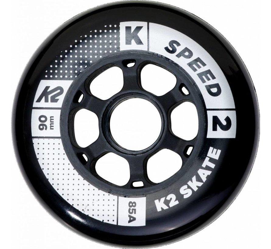 90mm Inline Skate Wheels 8-pack