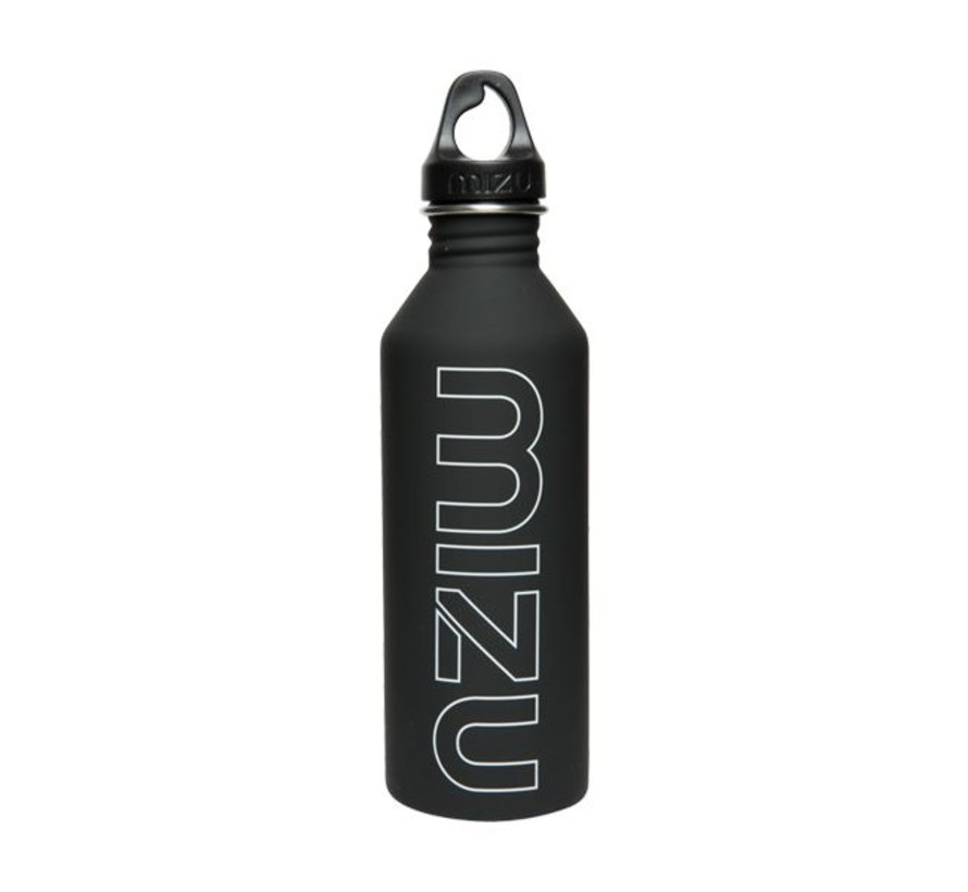 M8 Stainless Steel Water Bottle Zwart