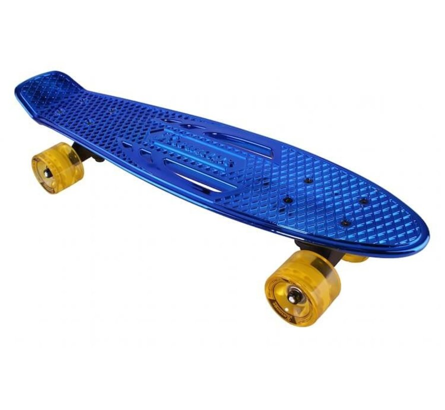 Retro Penny Board Blue Chroom