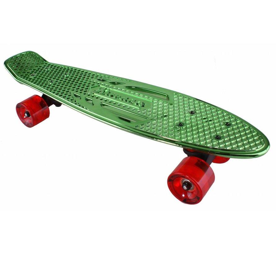 Retro Penny Board Groen Chroom