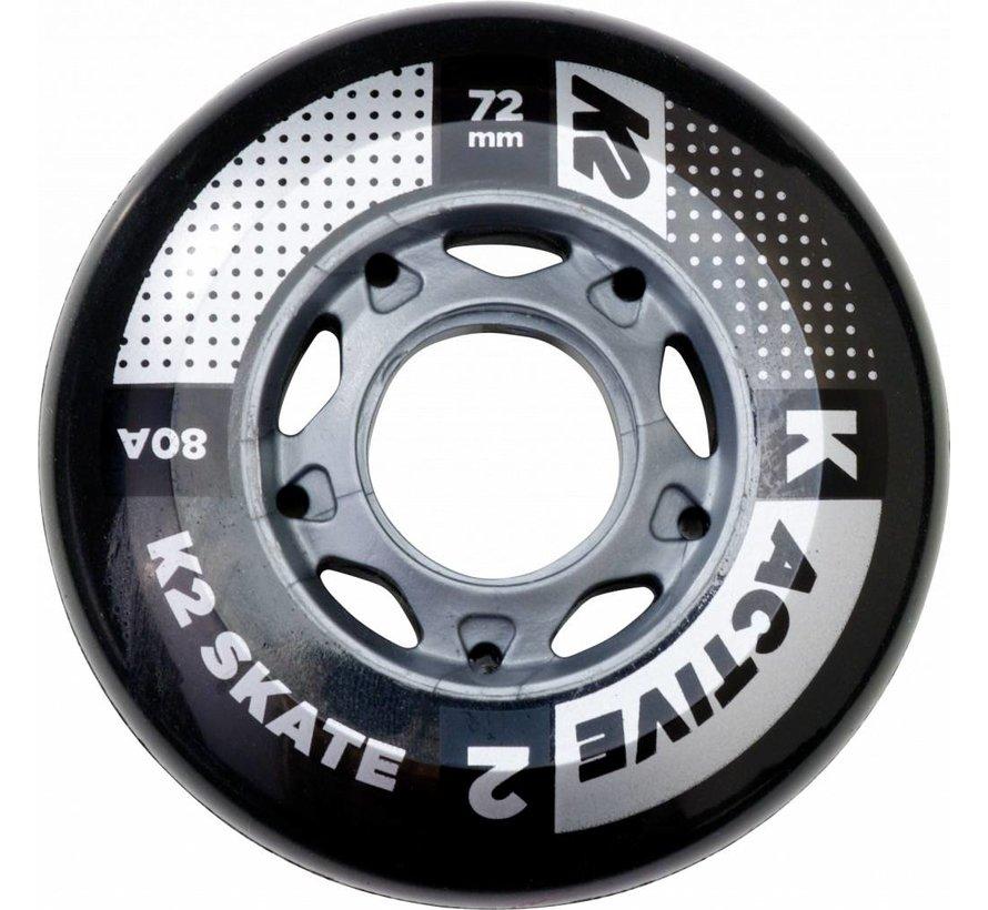 80mm Inline Skate Wielen 4-pack