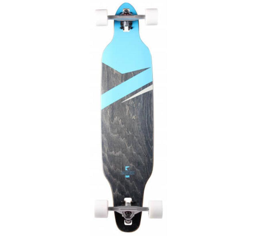 Lokz Blue Longboard Complete