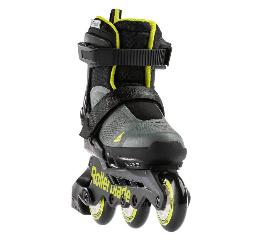 Microblade Free 3WD Adjustable Kids Skates Anthracite/Lime