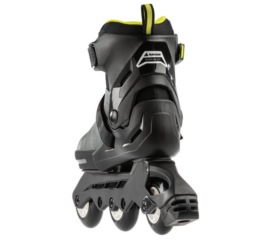 Microblade Free 3WD Verstelbare Kinder Skates Anthracite/Lime