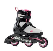 Rollerblade Microblade Free 3WD Kids Skates Boys Cool Grey/Candy Pink