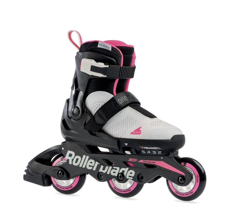 Microblade Free 3WD Adjustable Kids Skates Boys Cool Grey/Candy Pink