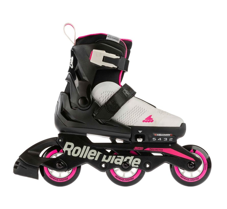 Microblade Free 3WD Verstelbare Kinder Skates Cool Grey/Candy Pink
