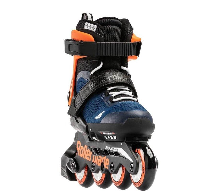 Microblade Adjustable Kids Skates Midnight Blue/Warm Orange