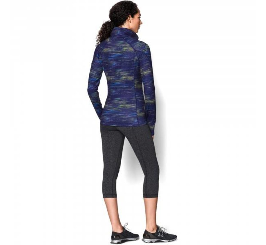 Dames ColdGear® Cozy Printed longsleeve shirt met halve rits