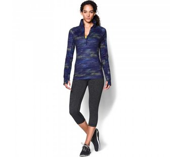 Under Armour Dames ColdGear® Cozy Printed longsleeve shirt met halve rits