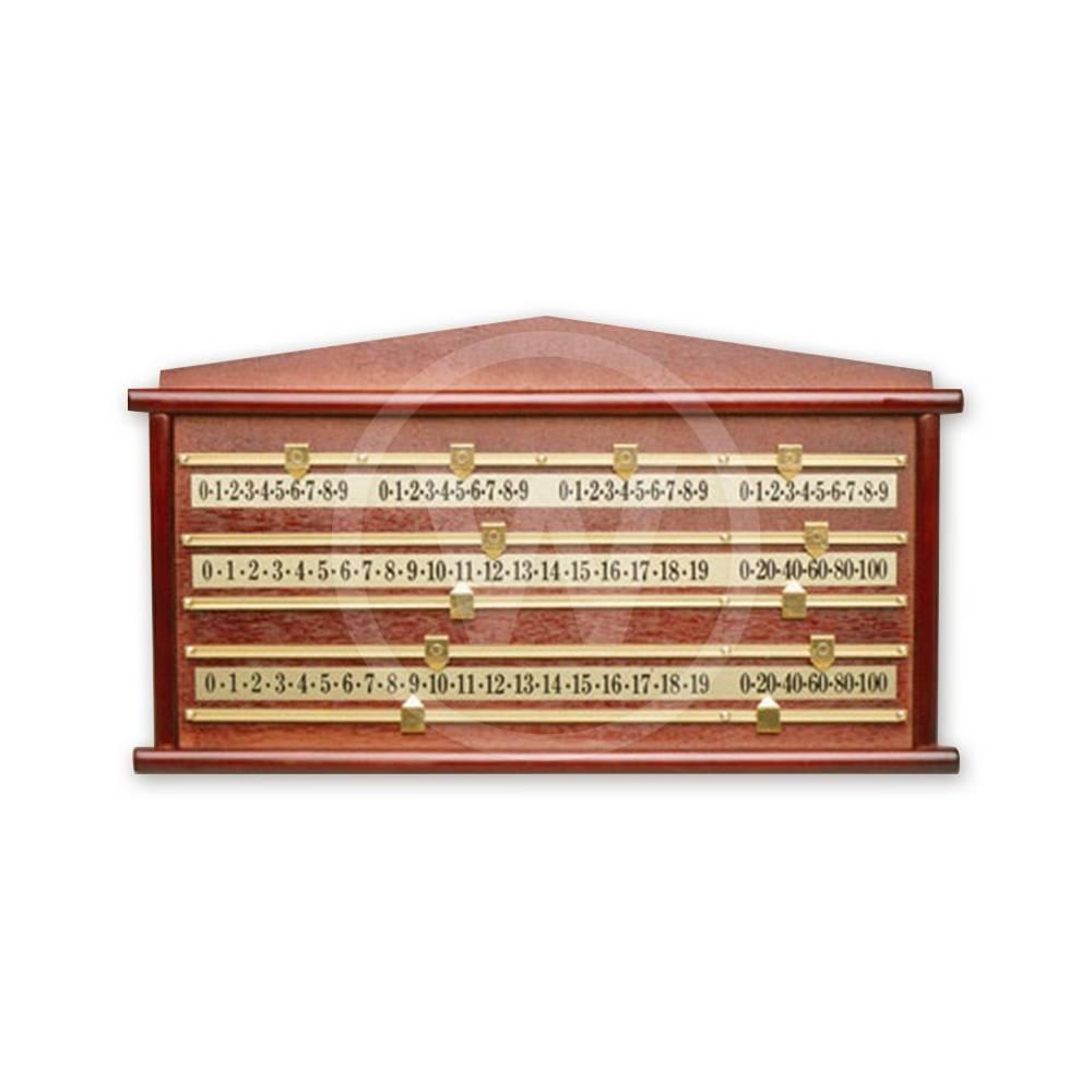 Scorebord hout snooker 4 spelers luxe