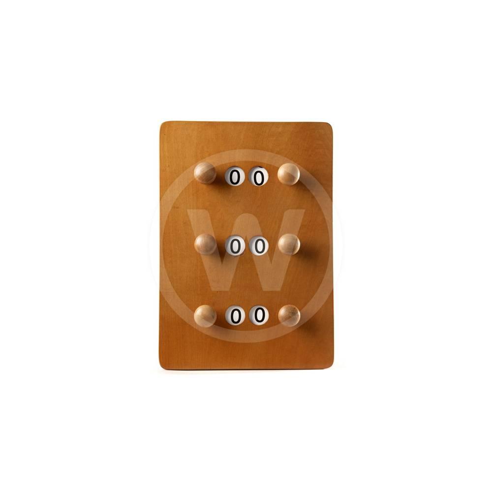 Standaard scorebord 3 spelers - klein (mahonie)