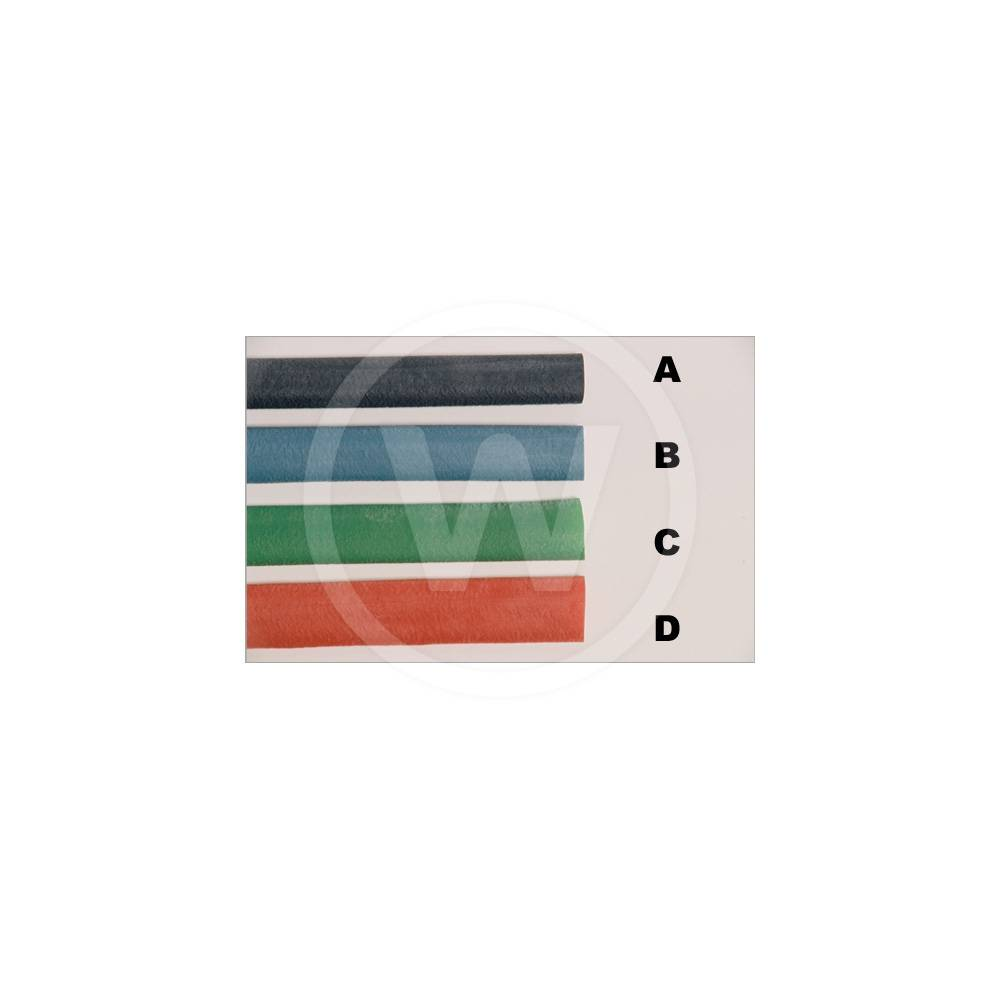 Handgreep dik * 40 cm met profiel (Kleur: Rood)