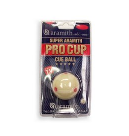 Aramith Bal wit met rode stippen, Pro Cup cue ball 57.2 mm (Maat: 57.2 mm)