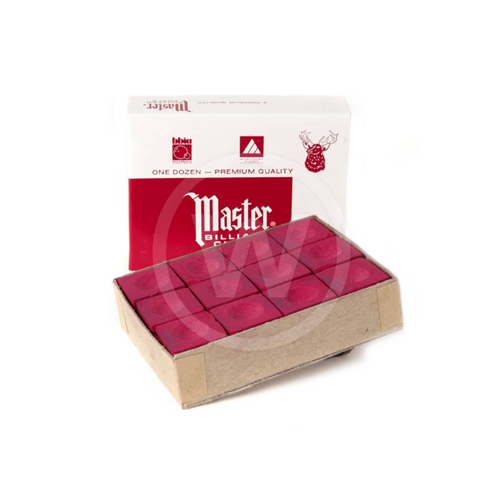 Master doosje 12 krijtjes (rood)