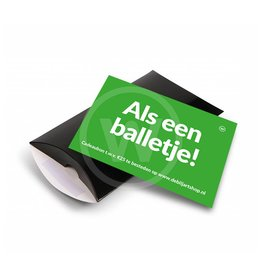 Cadeaubon 'balletje' - t.w.v. 25,-