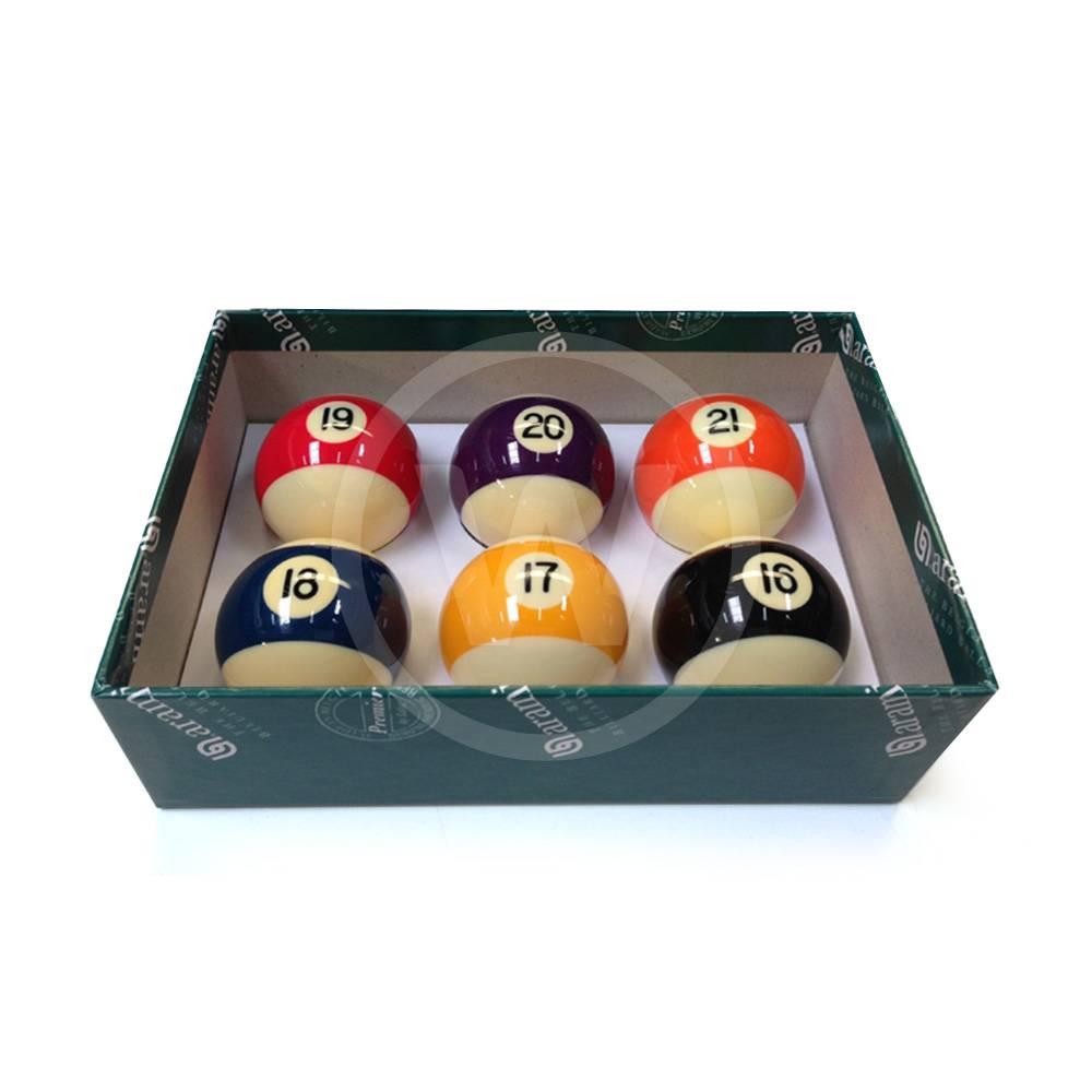 Aramith Aramith pool ballen (57,2 mm) 'Baseball' nr. 16-21