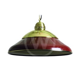Lamp solo messing 45cm (donker rood)