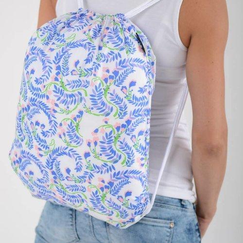 Ecozz Foldable Eco Backpack Squares Blue