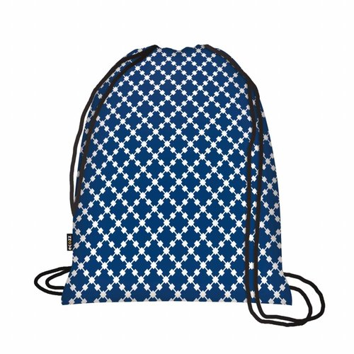 Ecozz Foldable Eco Backpack Squares Blue