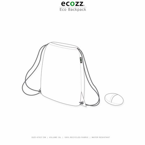 Ecozz Foldable Eco Backpack Retro Anchors