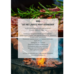 Grand Café de Klok Patisserie Luxe BBQ pakket