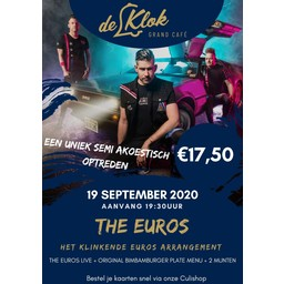 Klinkende Euros Arrangement 19 september 2020