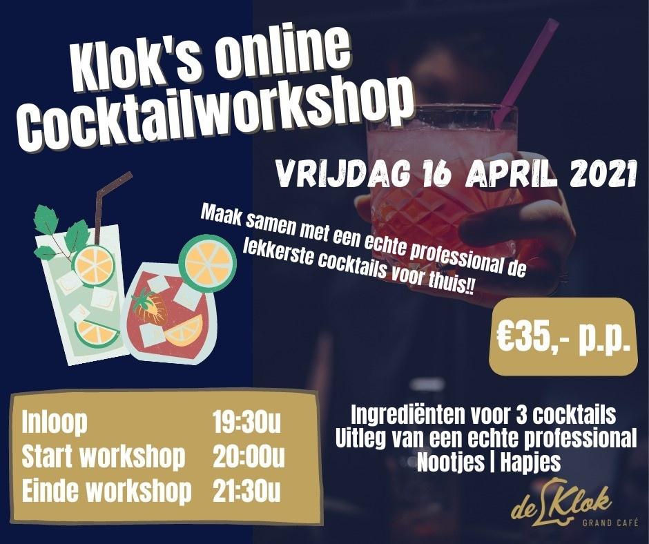 Grand Café de Klok Patisserie Klok's Cocktail Workshop