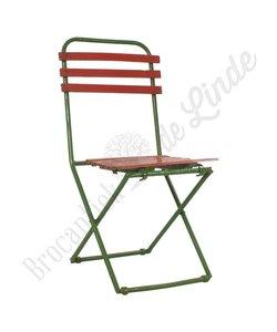 Klapstoel groen/rood