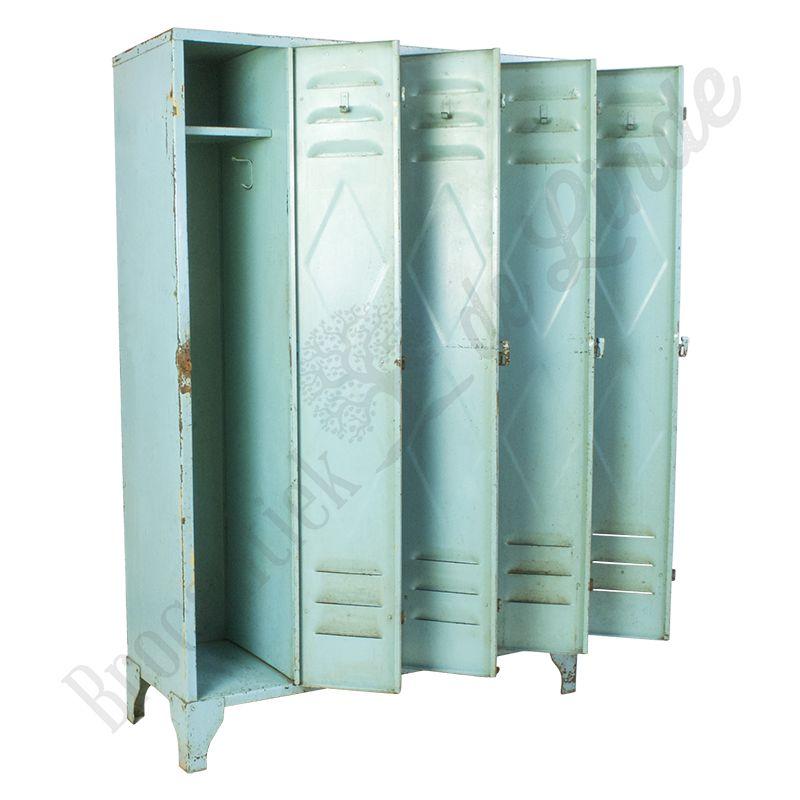 Industriele Lockerkast Kopen.Industriele Lockerkast Vierdeurs Blauw Staal Vintage Locker