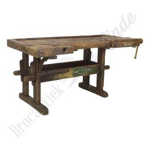 Antieke houten werkbank