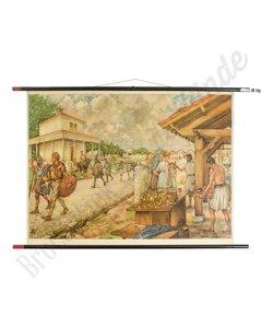 Oude schoolplaat romeinen