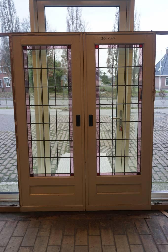 Wonderbaarlijk Jaren '30 en suite deuren met glas in lood   Brocantiek de Linde YO-86