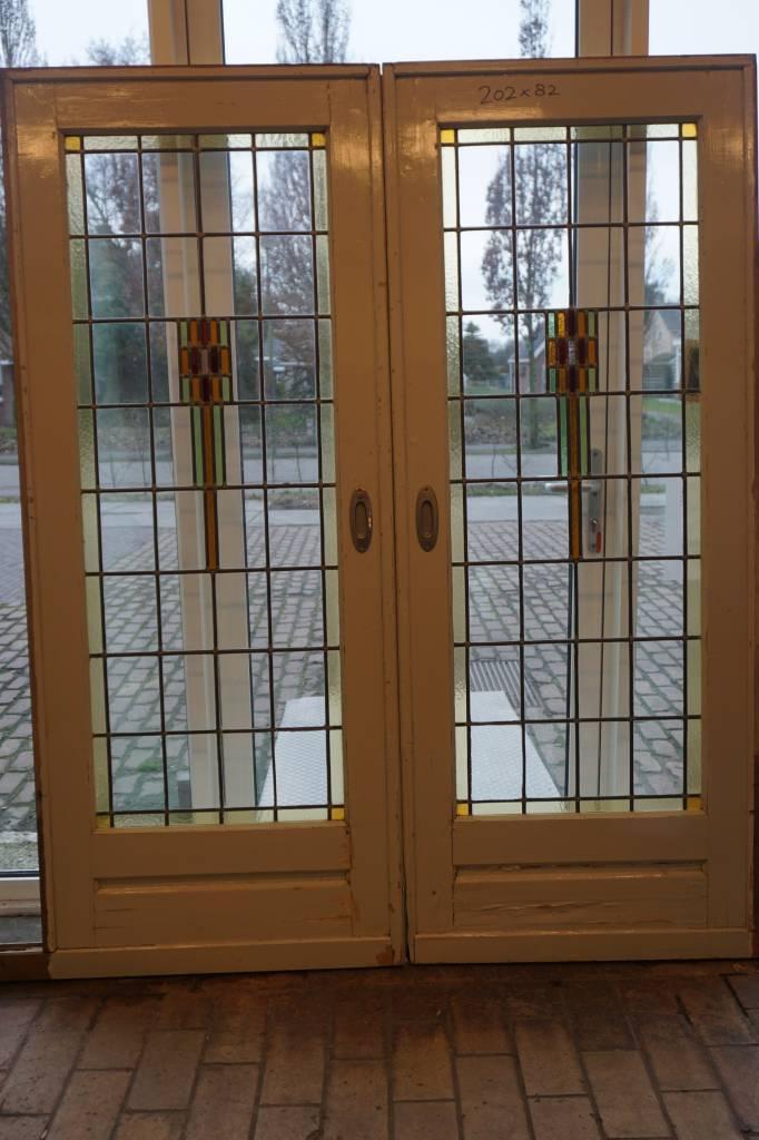 Ensuite Deuren Glas In Lood.Ensuite Deuren Met Glas In Lood 1930