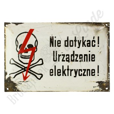 Poolse waarschuwingsbordjes - emaille