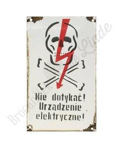 Poolse waarschuwingsbordjes - metaal