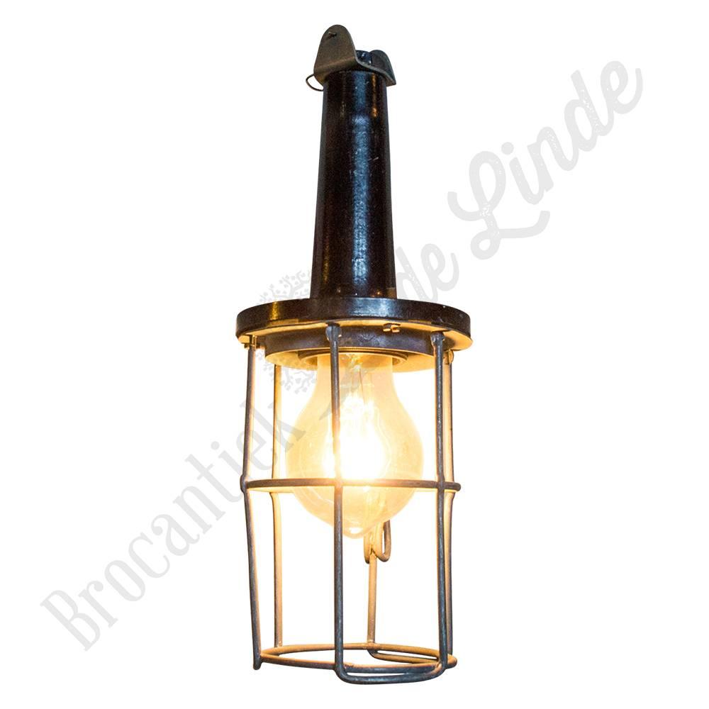Looplamp Met Metalen Korf.Vintage Bakelieten Looplamp