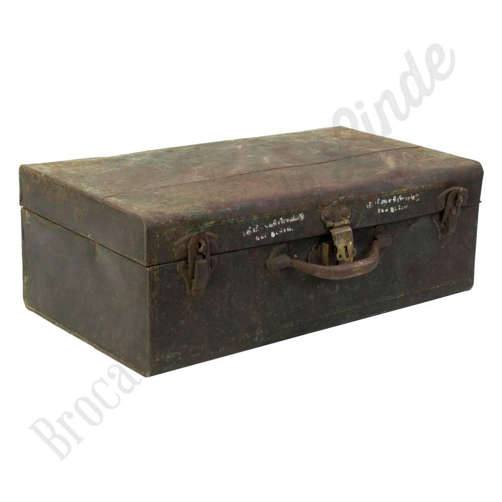 e4c1c015554 Metalen koffer Nr. 2   Brocantiek de Linde