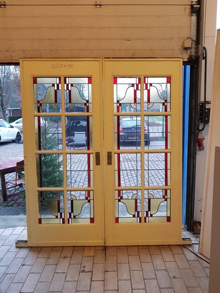 Ensuite Deuren Glas In Lood.En Suite Deuren Met Glas In Lood Art Deco A Dam