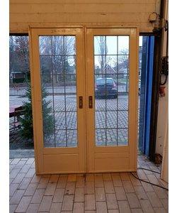 En suite deuren blank glas in lood