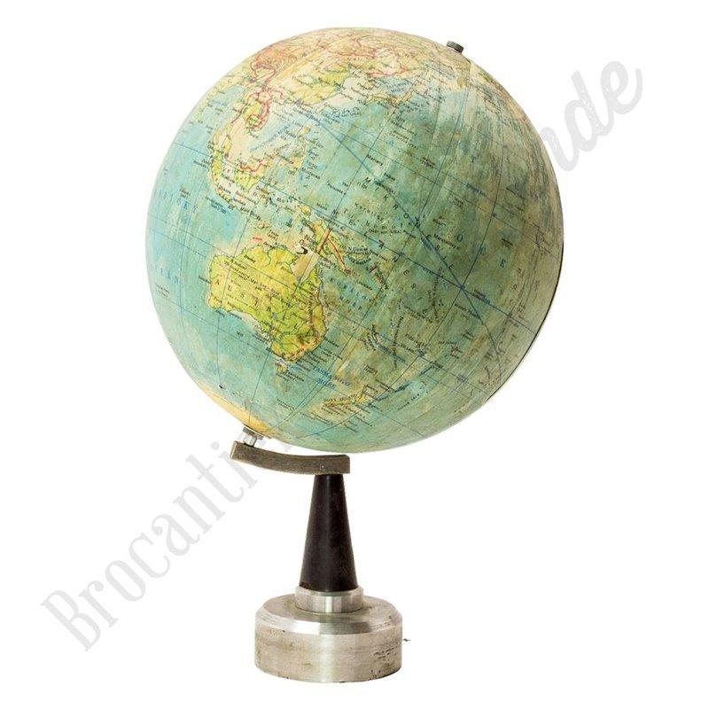Kleine vintage wereldbol